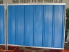 Construction site hoarding corrugated sheet type