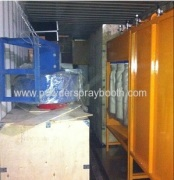 We sold a complete powder coating line to Russia