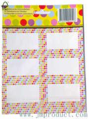 Color Dot classroom labels