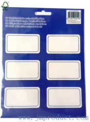 self adhesive school book labels