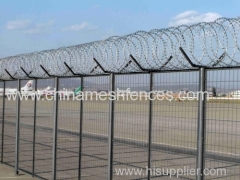 Airport prison barbed wire fence razor wire airport fencing
