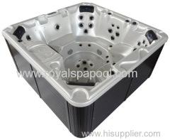 Square hot tub spa