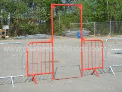 1100 height quality steel pedestrian barricade