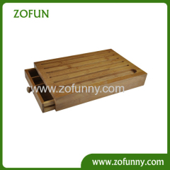 bread box cutting board with groove