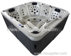 Whirlpool hot tub outdoor spa with led light