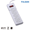 5 Outlets RJ45 Brazil Power Strip with Inmetro approval