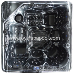 Outdoor jaccuzzi spa air water jets combo