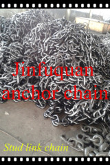 high quality u3 stud or studless welded link anchor chain
