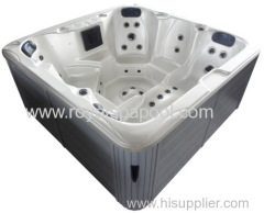jet whirlpool bathtub with tv hot tub Used for 6 Persons with SAA ROHS cetification