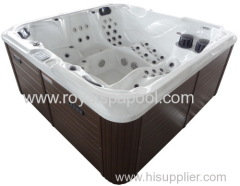 100 JETS USA acrylic outdoor spa steel whirlpool with pop up TV