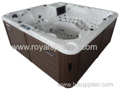 121 JETS hot tub acrylic whirlpool bathtub massage spa with tv