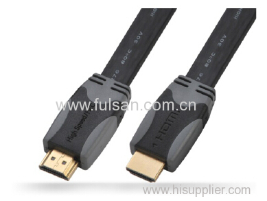 colorful HDMI Flat Cable Full HD 1080P Gold Plated 1.5m