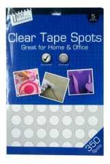 clear tape spots sticker