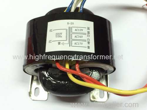 R-Core Single-Phase Power Switching Transformer Low Magnetic Leakage and Low Profile