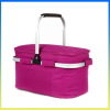 Large capacity stylish picnic cooler basket onboard ice pack
