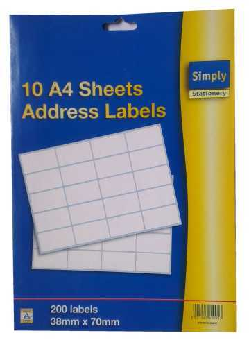 A4 sheet address label