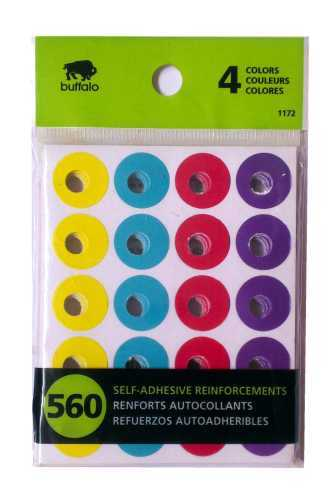 4 colors self adhesive reinforcements sticker
