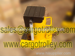 Hydraulic jacks with handler