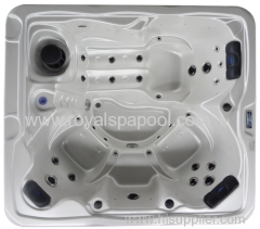 Square inground pool outdoor spa with overflow system used fiberglass pools