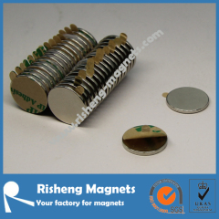 Permanent self adhesive Neodymium Magnets magnets with Tab Adhesive Magnets