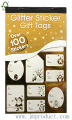 glitter gift tag sticker