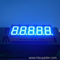 5 digit led display 0.36 inch ;blue 5 digit 0.36 7 segment led display