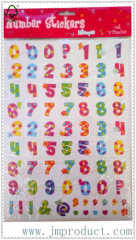 cute number sticker for kids