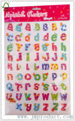 cute animal number and letter sticker for kids
