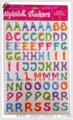 cute snake number letter sticker for kids