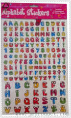 cute bug number and letter sticker for kids