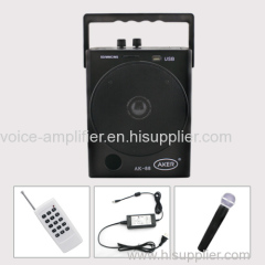 AKER AK88W pa system portable voice amplifier music amplifier for teachers band loudspeaker speaker loud speakers