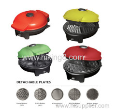 popular 5 detachable plates for selection snack maker