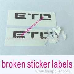 warranty void if broken label