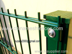 green colour Double wire mesh panel