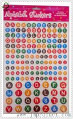 round number letter sticker