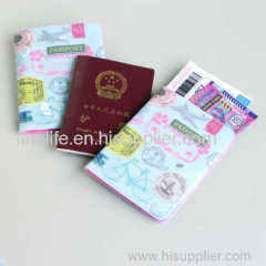 PVC passport cover for holding passport