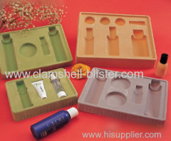 Cosmetic flocking insert tray