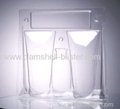 Three folded blister packaging box for cosmetic