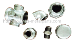 Galvanized malleable iron sand casting pipe fittings