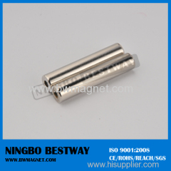 Neodymium Cylinder Magnets N35 D20x45mm w/Ni coating