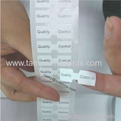 Custom Calibration label sticker and inspection label