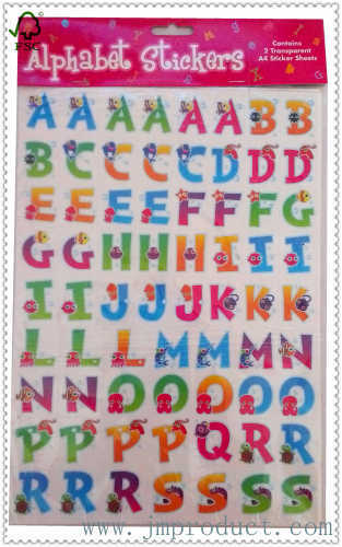 cute alphabet sticker for kids