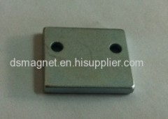 N45 NdFeB Magnet with two holes