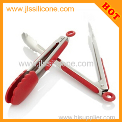 High Quality Skidproof Handle Locking Silicone Food Tongs
