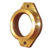Casting flange made of bronze