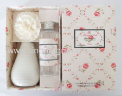 flower diffuser with ceramic bottle