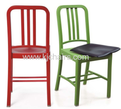 navy plastic dining chair