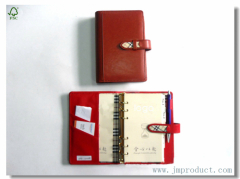 buckled journal writing with leather cover