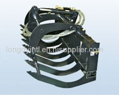 Compact Skid Steering Loader Angle Fork Grapple