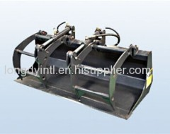 Grapple Bucket Compact Skid Steer Loader Attachment
